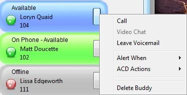 communicator buddy right click