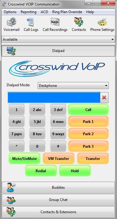 Communicator Dial pad screen