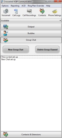 Group chat screen