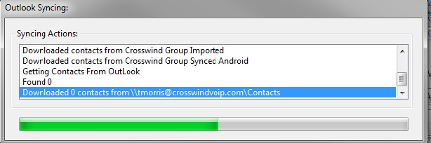 Communicator Contacts Sync With Outlook Window