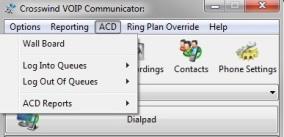 Communicator ACD Window