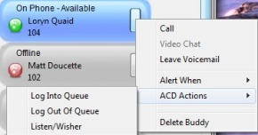 communicator buddy ACD Actions