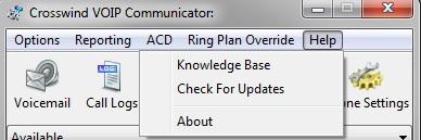 Communicator Help window