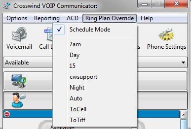 Communicator RPO Window